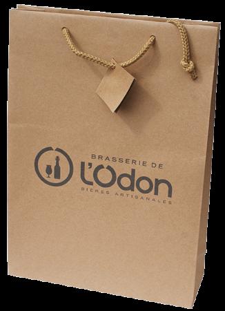 Sac en papier avec le logo de la Brasserie de l'Odon